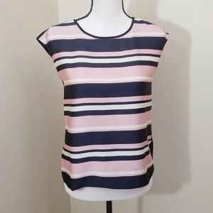 Vince Camuto PXS Black and Pink Sleeveless Shirt
